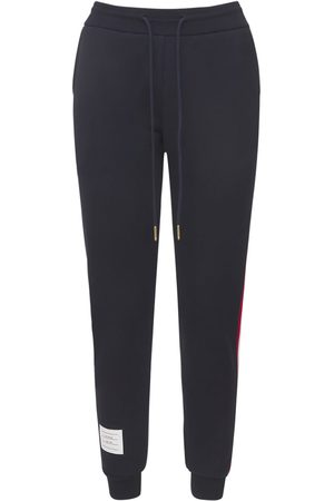 Thom Browne Women Pants - Cotton Sweatpants W/ Logo Stripes