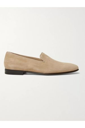 Manolo Blahnik Mario Grosgrain-Trimmed Patent-Leather Loafers