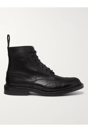 TRICKERS Stow Full-Grain Leather Brogue Boots