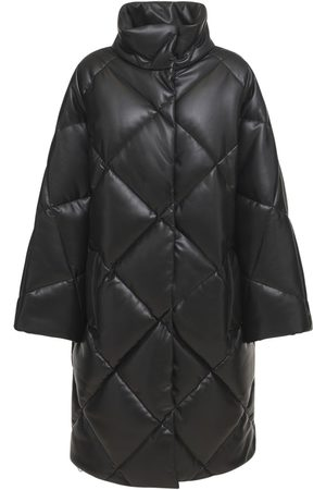 STAND STUDIO Women Leather Jackets - Anissa Faux Leather Puffer Coat