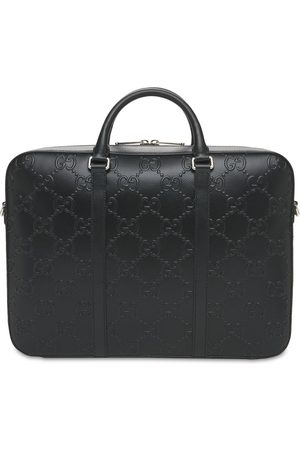 Gucci Men Laptop Bags - Gg Embossed Leather Briefcase