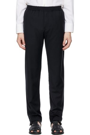 The Row Navy Wool Josh Trousers