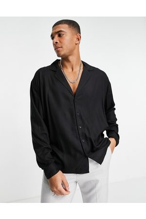 New Look Long sleeve shirt with revere collar in