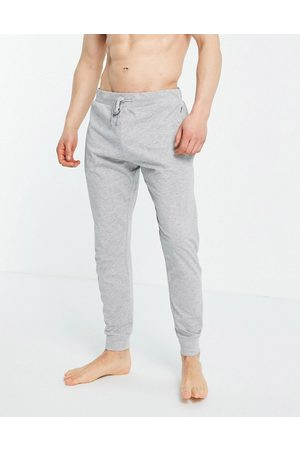 French Connection Jersey lounge joggers in light melange and marine