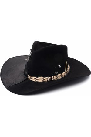 NICK FOUQUET Panelled wool fedora hat