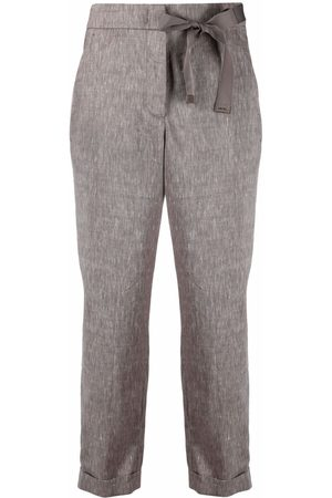 PESERICO SIGN Women Pants - Bow-detail cropped trousers