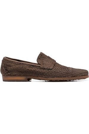 Premiata Men Loafers - Woven leather loafers