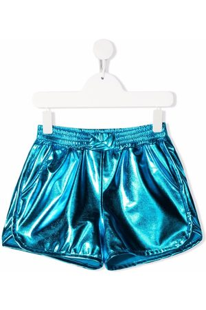 Le pandorine Metallic-effect fitted shorts