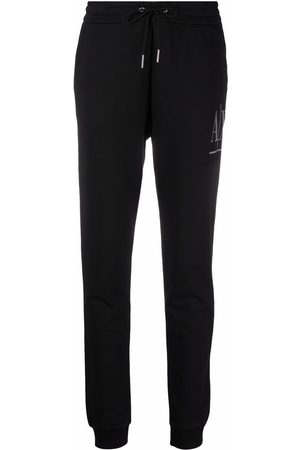 Armani Women Pants - Embellished-logo sweatpants