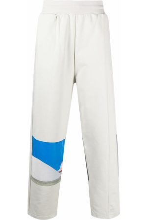 A-cold-wall* Men Pants - Embroidered-logo organic-cotton track pants