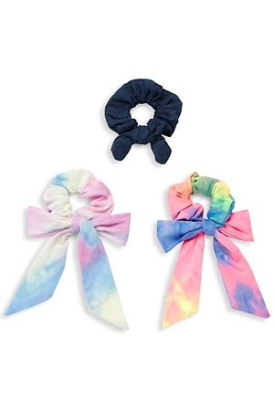 Bari Lynn Girls Hair Accessories - 3-Piece Tie-Dye Hair Tie Set