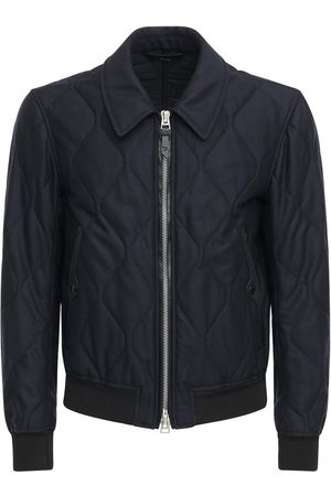 Tom Ford Men Jackets - Quilted Light Cashmere & Wool Jacket