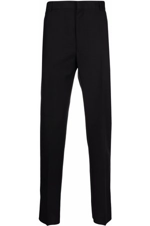 Alexander McQueen Pressed-crease tailored trousers