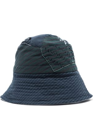 BY WALID Patchwork-design bucket hat