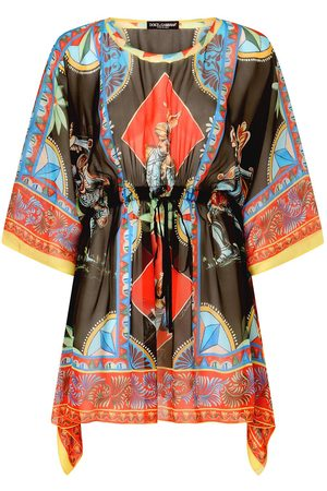 Dolce & Gabbana Graphic-print beach cover-up