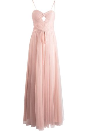 Marchesa Notte Sweetheart-neck floor-length gown