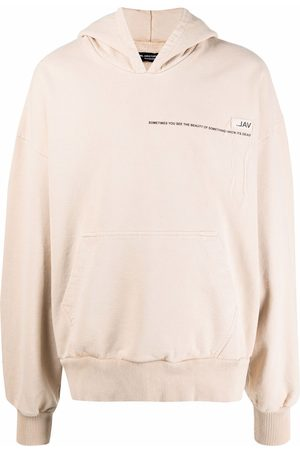 VAL KRISTOPHER Text print oversized hoodie