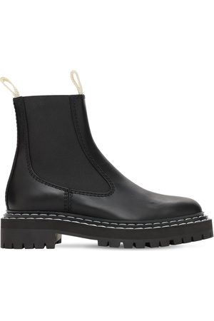 Proenza Schouler Women Ankle Boots - 30mm Lug Leather Chelsea Boots