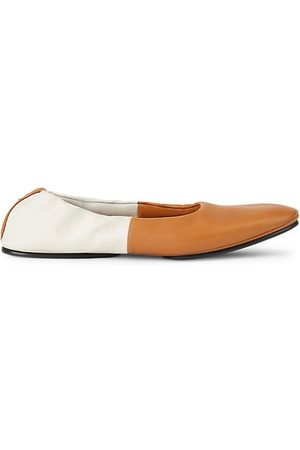Lafayette 148 New York Mira Two-Tone Leather Ballet Flats