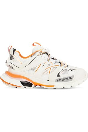 Balenciaga Women Sneakers - 30mm Track Faux Leather & Mesh Sneakers