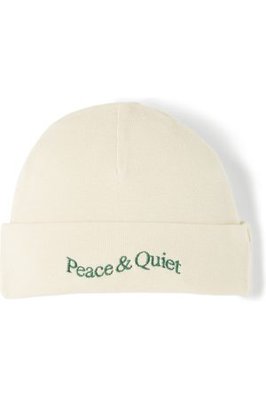 Beanies - Museum of Peace & Quiet SSENSE Exclusive Baby Beige Word Mark Beanie