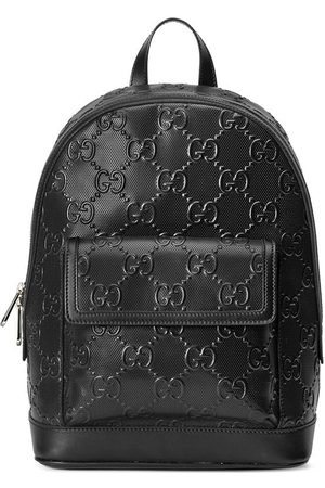 Gucci GG-embossed zipped backpack
