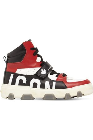DSQUARED2 Men Sneakers - Basket Icon Leather High-top Sneakers
