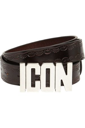 Dsquared2 30mm Icon Buckle Leather Belt