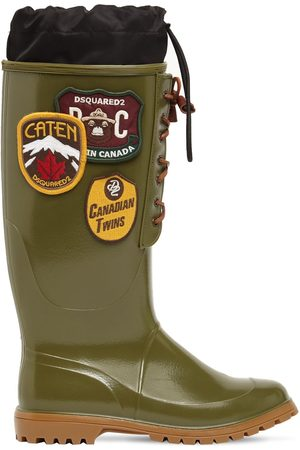 Dsquared2 Rubber Rain Boots W/ Patches