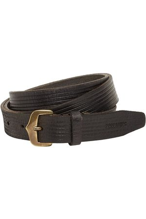 Dsquared2 Leather Crust Belt W/ Old Brass Buckle