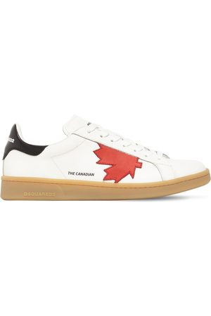 Dsquared2 Maple Leaf Boxer Leather Low Sneakers