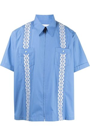 Ports V Geometric band cotton shirt