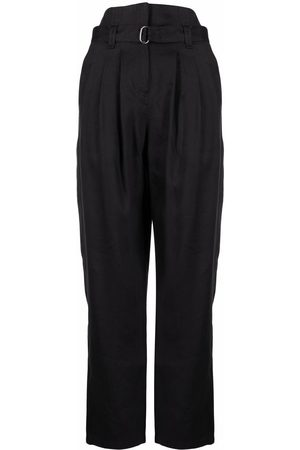 IRO High-waisted pleat-detail trousers