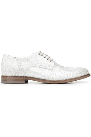 Moma Metallic-effect leather derby shoes