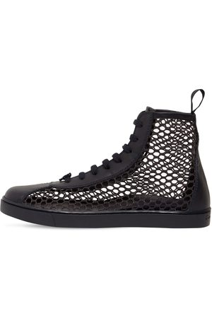 Gianvito Rossi Women Sneakers - 20mm Helena Leather & Mesh Sneakers