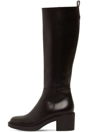 Gianvito Rossi Women Knee High Boots - 45mm Ollie Leather Tall Boots