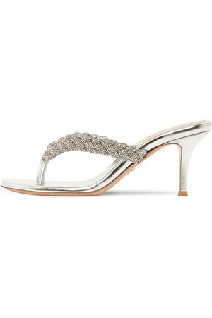 Gianvito Rossi 70mm Embellished Braided Thong Sandals