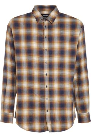 Dsquared2 Men Shirts - Check Cotton Shirt