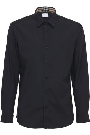 Burberry Men Shirts - Sherwood Stretch Cotton Poplin Shirt