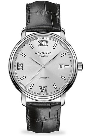 Mont Blanc Tradition Stainless Steel & Leather Strap Watch