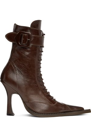 Charlotte Knowles SSENSE Exclusive Serpent Lace-Up Heeled Boots