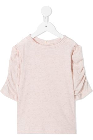 Velveteen Dion ruched-sleeve top