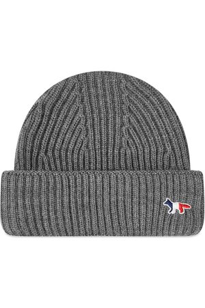 Maison Kitsune Men Hats - Ribbed Hat Tricolor Fox Patch