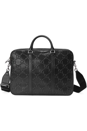 Gucci GG-embossed zipped briefcase