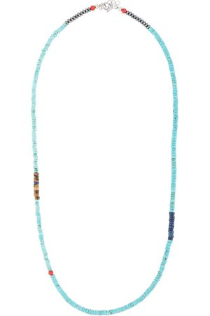 Nialaya Turquoise and tiger-eye necklace