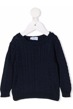 SIOLA Jumpers - Cable-knit cotton jumper