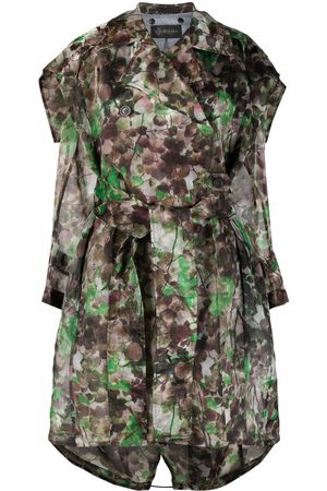 Mr & Mrs Italy Women Trench Coats - Blossom camouflage-print trench coat