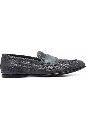 Dolce & Gabbana Woven-effect slip-on loafers