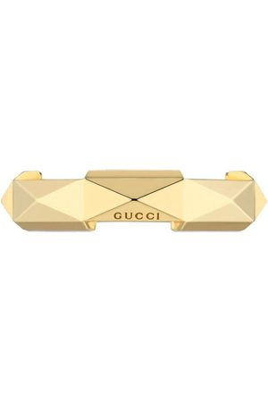 Gucci 18kt yellow Link to Love studded ring