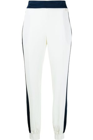 Twin-Set Pressed-crease slip-on trousers